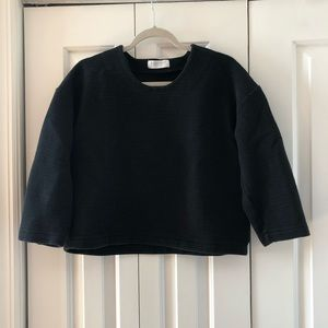 Everlane Cropped Ribbed Sweatshirt
